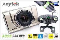 Автомобильный видеорегистратор Anytek A100H на 2 камеры HDMI, фото 1