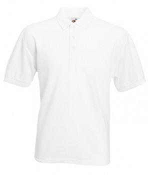 Мужская футболка поло белая 402-30