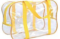 Прозрачная сумка для вещей в роддом 50х23х32