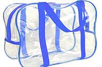 Прозрачная сумка для вещей в роддом 31х21х14