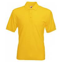 Мужская футболка поло желтая 402-34