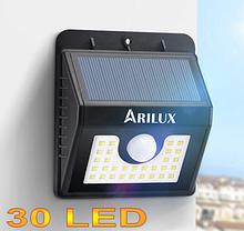 Світлодіодний світильник на сонячній батареї з датчиком руху ARILUX 30 Led AL-SL04 3 режими роботи