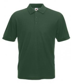 Мужская футболка поло темно зеленая 402-38