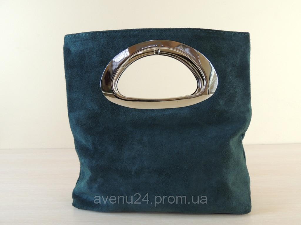 Стильная сумочка из замша (Италия), фото 1