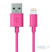 USB кабель GOLF USB cable Lightning Rainbow series Pink