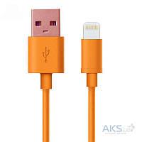 USB кабель GOLF USB cable Lightning Rainbow series Orange