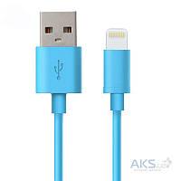 USB кабель GOLF USB cable Lightning Rainbow series Blue