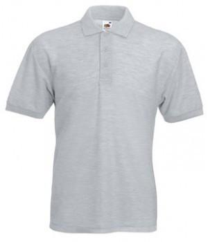 Мужская футболка поло светло серая 402-94