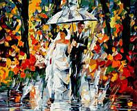 Раскраска по цифрам 40×50 см. Свадьба под дождем Художник Леонид Афремов, фото 1