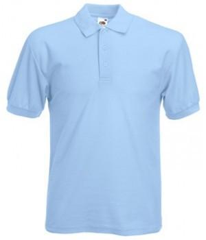 Мужская футболка поло голубая 402-УТ