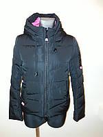 Куртка женская короткая черная 17-07