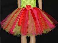 Спідниця дитяча фатиновая різнобарвна з шпульок,, фото 3