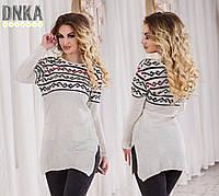 Туника женская , ткань тонкая вязка, фото реал ,супер качество ,производство Турция дг № 4700
