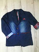 Детский джинсовый пиджак для мальчика 11050