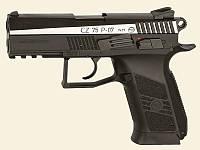 Пистолет пневматический ASG CZ 75 P-07 Duty Blowback. Корпус - металл,вставка никель.