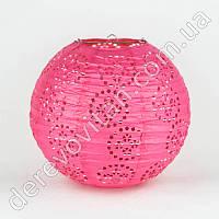 Подвесной фонарик ажурный розовый, 25 см