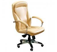 Кресло для руководителя Хьюстон Хром кожа сплит чёрная, мех. Энификс