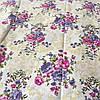 Бязь с розовыми и сиреневыми пионами в стиле Прованс