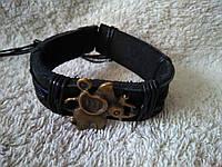 Кожаный браслет СЛОН ручная работа