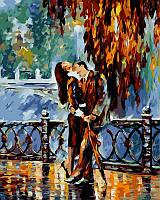 Раскраски для взрослых 40×50 см. Поцелуй после дождя Художник Леонид Афремов