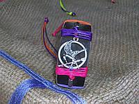 Кожаный браслет СОЙКА-ПЕРЕСМЕШНИЦА ручная работа