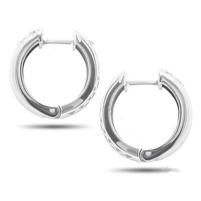 Серебряные серьги широкие кольца