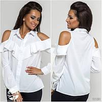 Белая женская рубашка