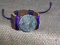 Кожаный браслет ЧАСОВОЙ МЕХАНИЗМ, ручная работа