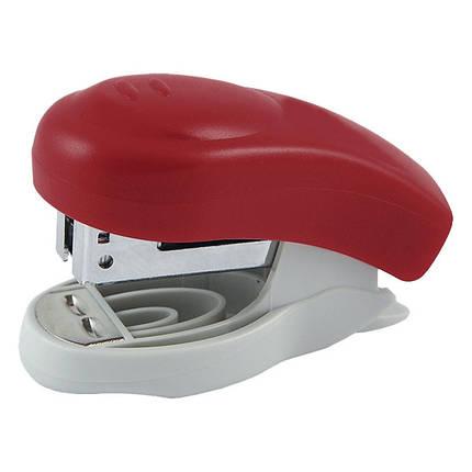 """Степлер """"Axent"""" Welle-2, пластик, №24\6, 10листов №4810-06-А красный, фото 2"""