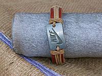 Мужской браслет НАЙК на руку из кожи ручная работа