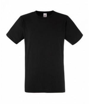 Мужская футболка приталенная черная 200-36