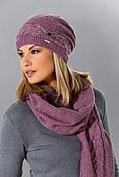 Теплая вязанная женская шапочка от Loman Польша