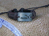 Унисекс ПУМА браслет на руку из кожи ручная работа