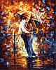 Раскраски для взрослых 40×50 см. Поцелуй на мосту Художник Леонид Афремов
