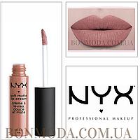 "NYX Soft Matte Lip Cream 9 Матовая Помада ""Abu Dhabi"" № 09, фото 1"