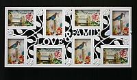 Мультирамка Фоторамка Love&Family на 8 фотографий, белая