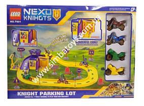 "Паркинг ""Nеxo Knihgts"" , коробка 42*8*30см, парковка, трек, гараж"