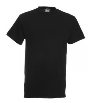 Мужская футболка плотная черная 212-36