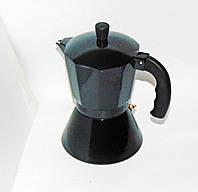 Кавоварка алюмінієва на 6 чашок чорна (індукція), фото 1