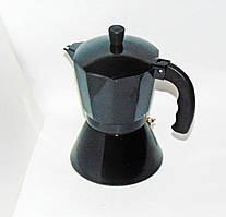 Кофеварка алюминиевая на 6 чашек черная (индукция)