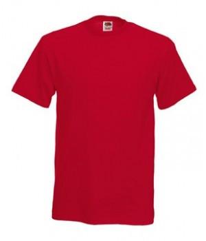 Мужская футболка плотная красная 212-40