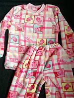 Теплые детские махровые пижамы для девочек на 6 лет