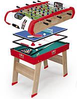 Деревянный полупрофессиональный стол Smoby Power Play 4 в 1 (640001)