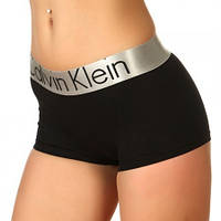 Женские трусы шортики Calvin Klein Steel коричневые