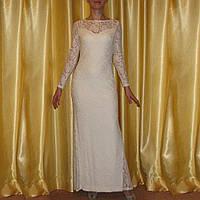 Шикарное кружевное платье на Новый год р.44