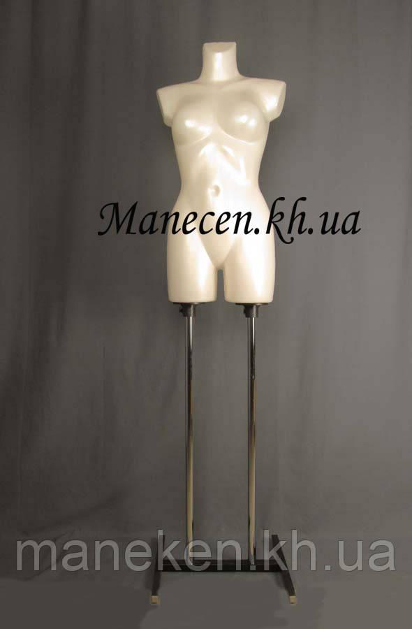 Манекен объемный венера белый жемчуг на подставке