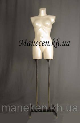 Манекен объемный венера белый жемчуг на подставке, фото 2