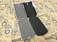 Кожаный чехол (флип) Melkco для HTC Desire SV T326e белый и чёрный