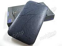 Кожаный чехол Samsung Galaxy Mega 6.3 i9200 (синий)
