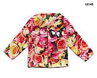 """Махровая кофта """"Розы"""" для девочки. 2 года"""